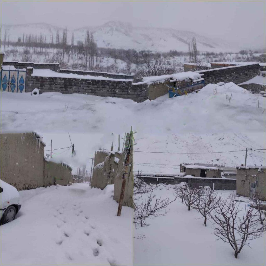 روستای سیرسپرانلو علیا طبیعت برفی