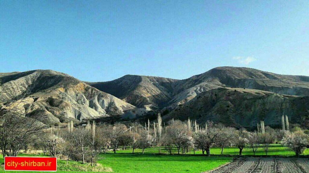 تصویر زیبا از دهستان گیفان دامنه کوه ها