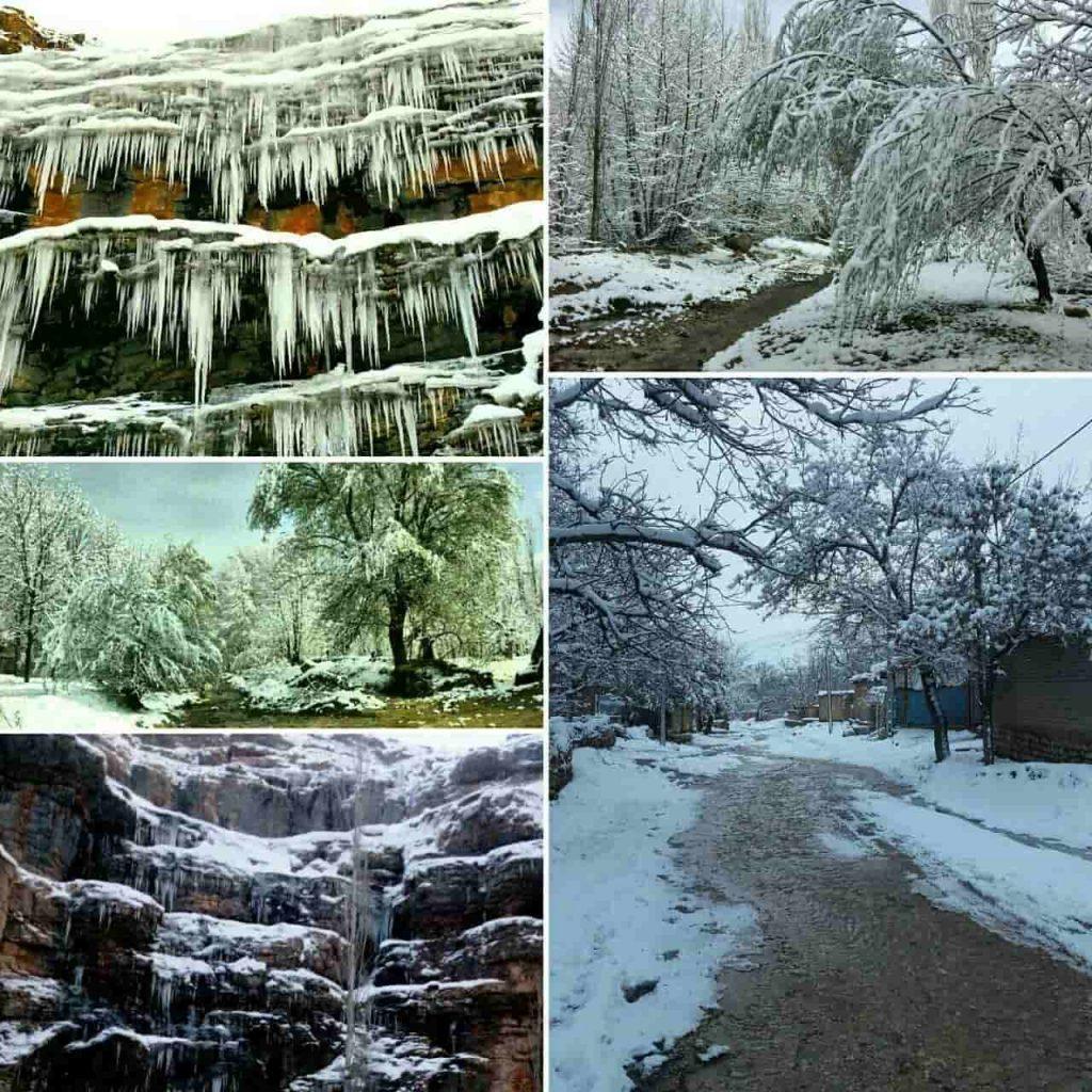 روستای زوارم طبیعت زیبا یخی